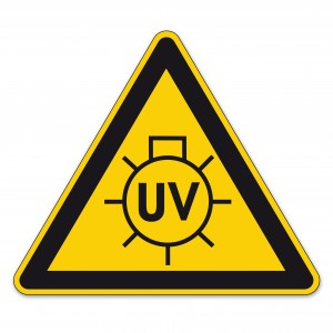 Recommendation for Use of the Unit Safety First UV Caution Sign