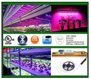 SmartGrow, 75W=1000W HPS, Bluetooth, COB, cULus LED Grow Light, Grow light for plants, IP66, LED Grow Light, SmartRay LED Grow Light, SmartRay LED Horticultural Light, waterproof, Thermal Solution Passive Heat Dissipation, Air Ionizer Crystal Slat Mold - Inhibiting Air Ionizer, Special Applications - Integrated C02 Generator