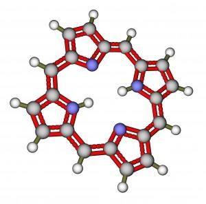 Porphin 3D molecular structure