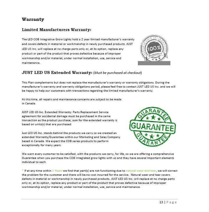 Owner's Manual 13