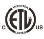 ETL-Intertek Certified